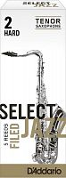 D`ADDARIO WOODWINDS RSF05TSX2H Select Jazz Filed Tenor Saxophone Reeds, 2H, 5 BX