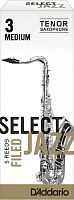 D`ADDARIO WOODWINDS RSF05TSX3M Select Jazz Filed Tenor Saxophone Reeds, 3M, 5 BX